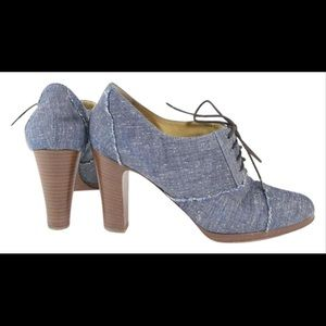 EUC JCrew Campbell Lace Up High-heel Oxfords